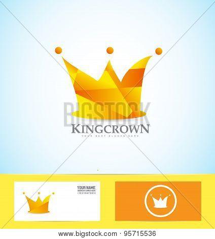 Orange Crown 3D Logo