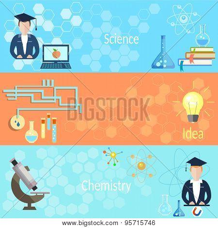 Education And Training: School, Teacher, Class, Chemistry, Physics, Computer, Microscope, Students
