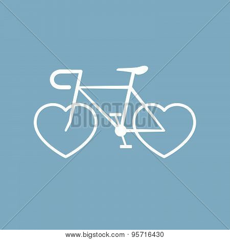 Bicycle With Heart Shape