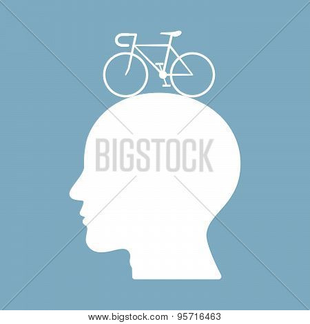 Bicycle Brain Think Man Head