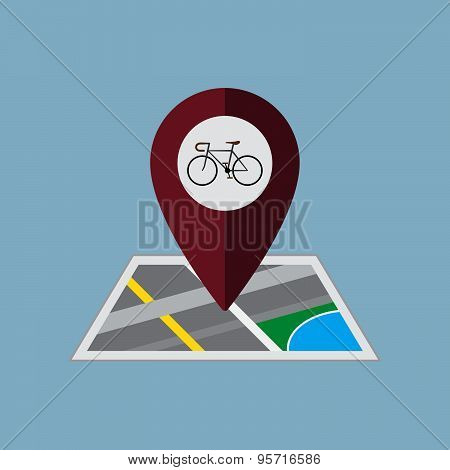 Bicycle Map Pin