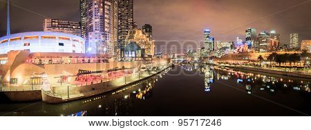 Melbourne City And The Yarra River