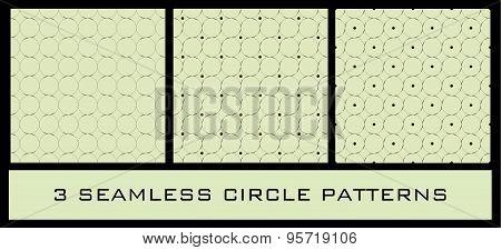 Set of 3 Seamless Circle Patterns