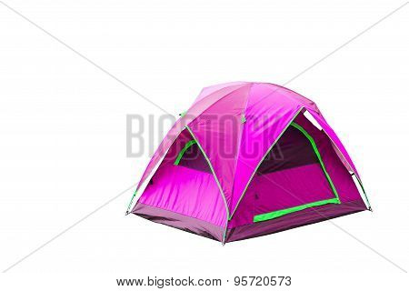 Isolated Magenta Dome Tent