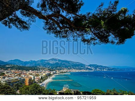 Summer Time In Menton, France, Cote D'azur
