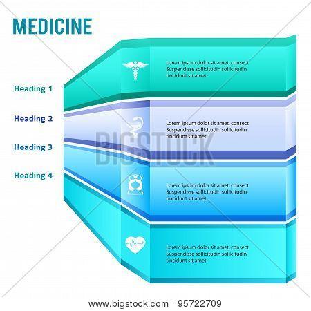 Presentation Template Medicine Infographics Glowing Stripes