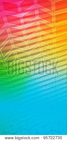 Rainbow Background Blur Glowing Effect Up Arrow