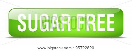 Sugar Free Green Square 3D Realistic Isolated Web Button