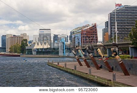 Melbourne, Australia  - December 30, 2014: Sea Life Museum On 30