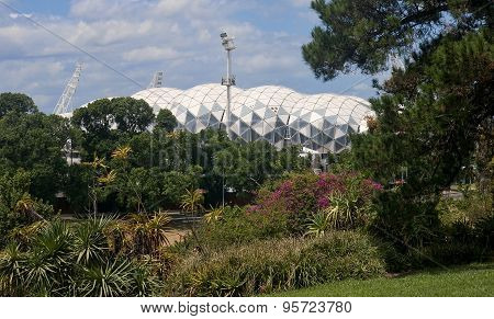 Melbourne, Australia - December 30, 2014: Rectangular Stadium, A