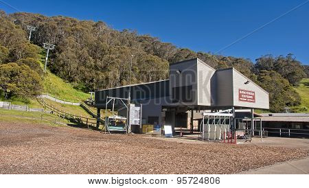 Thredbo, Australia - December 20, 2014: The Center Of Thredbo On