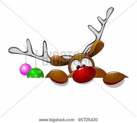 Cute Christmas Reindeer Rudolf