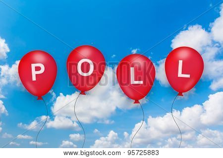 Political Poll Text On Balloon