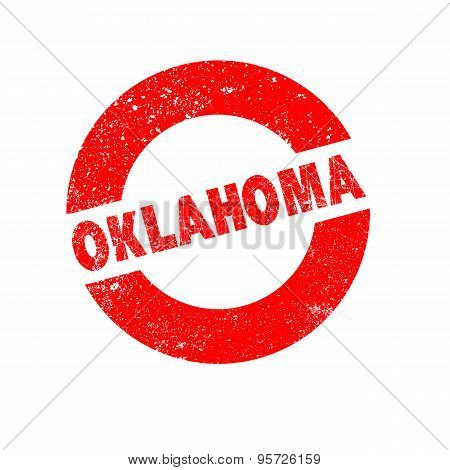 Rubber Ink Stamp Oklahoma