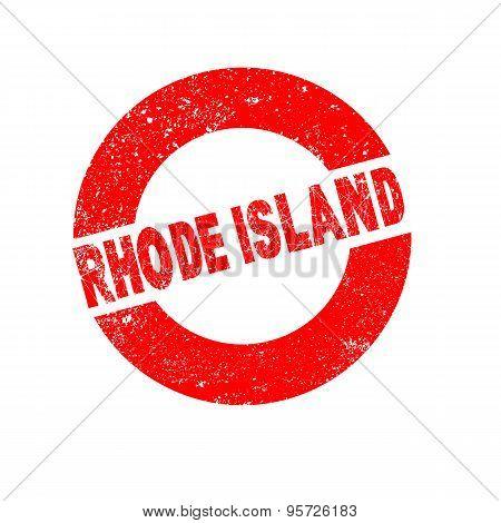 Rubber Ink Stamp Rhode Island