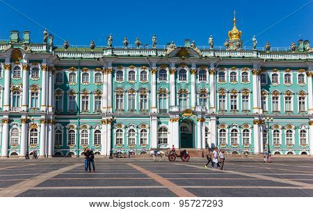 Winter Palace View With Horse