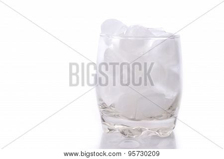 Glass Full With Ice