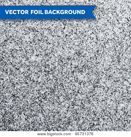 Vector silver glittering foil texture