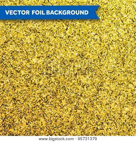 Vector gold glittering foil texture