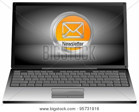 Laptop computer with Newsletter Button