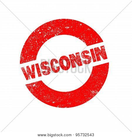 Rubber Ink Stamp Wisconsin