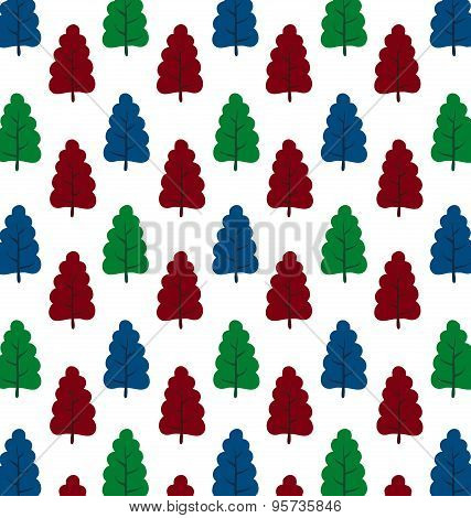 Pattern Of Small Trees