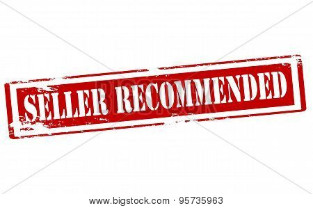 Rubber stamp with text seller recommended inside vector illustration