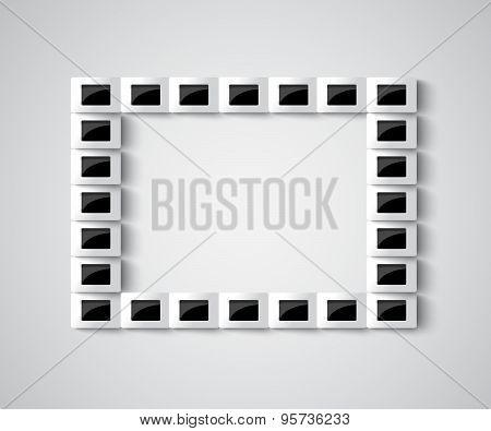 3D Realistic Frame On A Wall Vector Background Wall  Modern Design For Your Content