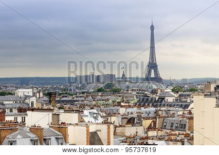 Eiffel Tower And Grand Palais, Roofs Of Paris