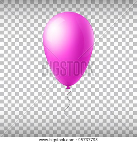 Abstract creative concept vector flight balloon with ribbon. For Web and Mobile Applications isolate