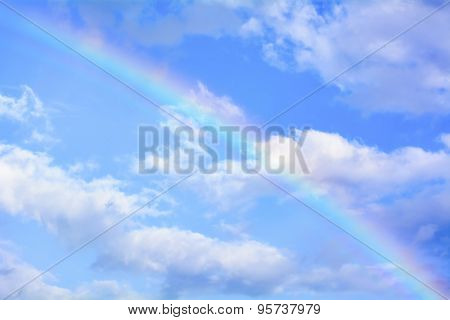 Rainbow in the sky its is colorful and beautiful