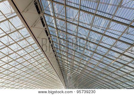 Ceiling Of Charles De Gaulle Airport In Paris