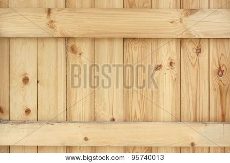 Natural Unpainted Wood Panel With Squared Balk Background
