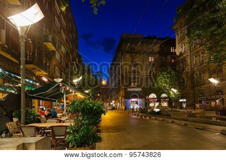 Night Street Of Budapest