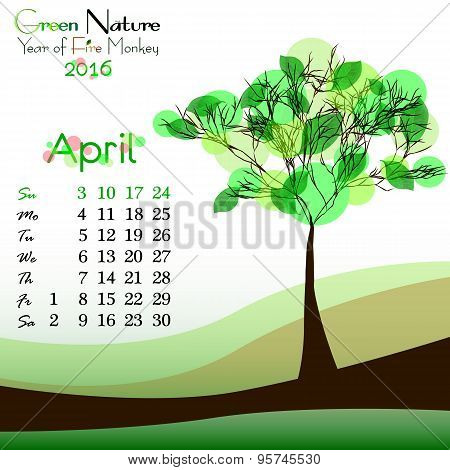 Abstract Nature Background With Spring Tree. April
