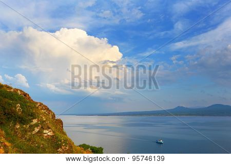 Armenia. Lake Sevan. Mountain landscape.