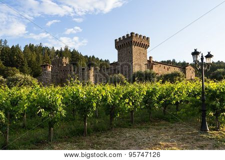 Wine Castle In Napa Valley