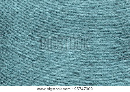 Textured Background Of Dark Turquoise Rough Fabric