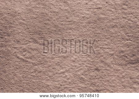 Textured Background Of Dark Brown Rough Fabric