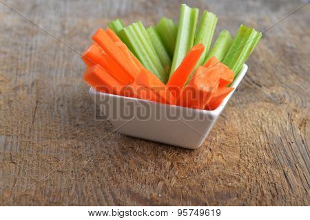 Bowl Of Carrot And Celery