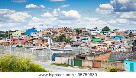 Favela at Belo Horizonte, Minas Gerais, Brazil.