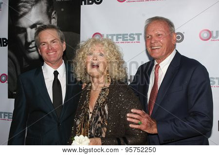 LOS ANGELES - JUL 11:  Allan Glaser, Connie Stevens, Tab Hunter at the