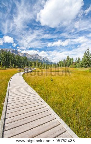 Boardwalk in Canmore, Alberta