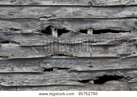 Old Wooden Barn Wall