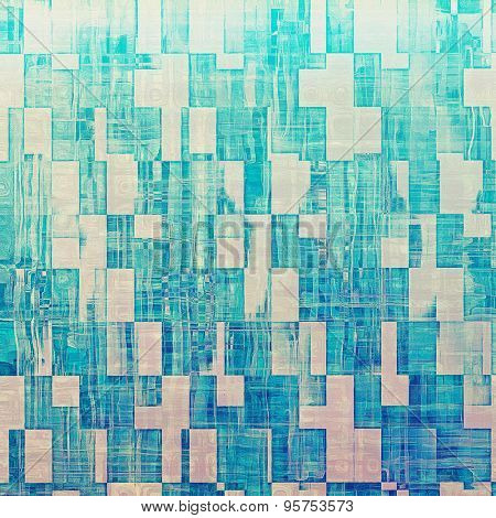Art grunge vintage textured background. With different color patterns: gray; cyan; blue
