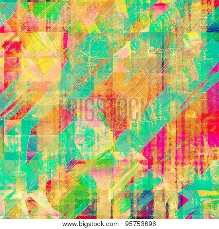 Antique vintage background. With different color patterns: yellow (beige); red (orange); blue; green; pink