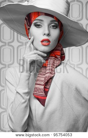 Vogue Elegant Woman In Bw