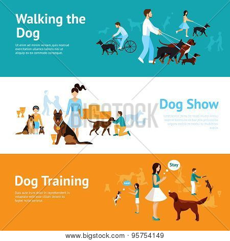 People With Dogs Banner Set