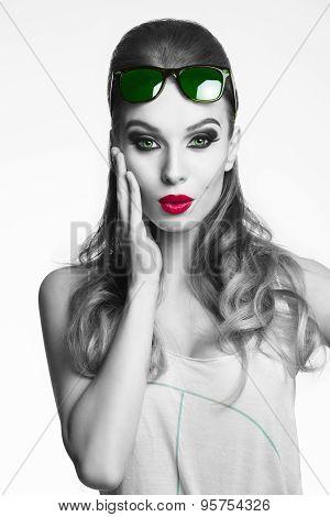 Fashion Casual Woman .bw Shot