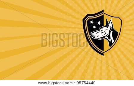Business Card Doberman Guard Dog Stars Shield